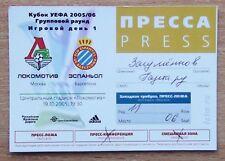 Tickets Locomotive Moscow - RCD Espanyol Spain 2005 press