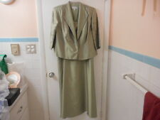NEW KM COLLECTIONS BY MILLA BELL GREEN JACKET DRESS SIZE 16WP - BEAUTIFUL !!!