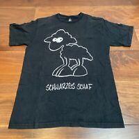VINTAGE Mens T Shirt Small Black Cotton Sheep Graphic Tee