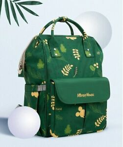 Disney Diaper Bag Green Mickey Mouse 2021 Backpack Pushchair New
