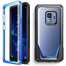 For Samsung Galaxy S9 Case Full-Body Rugged Cover with Screen Protector Blue