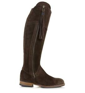 Bareback Sovereign Suede Boot With Tassel - Brown-6 *Free P&P*