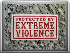 "Hells Angels Support 81 stickers autocollant ""protected by EXREME violence imaginaire"""