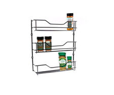 Spice Rack 3 Tier Wall Spices Kitchen Pantry Jar Organiser Shelves Storage