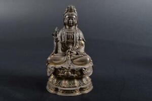 #1312: XF Japanese Copper GUANYIN BUDDHIST STATUE Kannon Buddhist art