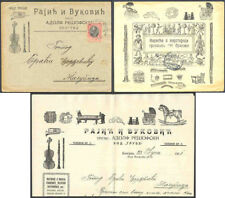 Serbia 1911 illustrated letter & cover/Music, Toys