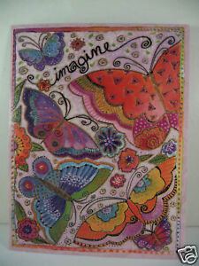 Laurel Burch Deluxe Greeting Happy Birthday Card Bright Pink Butterflies New