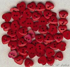 SMALL SIMPLE RED HEART Christmas Valentine Love Sewing Dress It Up Craft Buttons