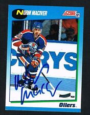 Norm Maciver #434 signed autograph 1991-92 Score Hockey Canadian Release Card
