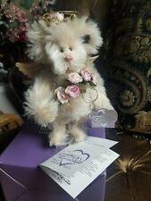 "Annette Funicello *New* 10"" Rosalinda Angel Teddy Mohair Bear #399 Stand"