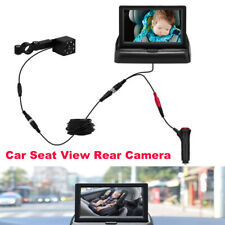 Baby Car Seat View Rear Camera 360 Adjustable Infant Infrared Monitor Display 1x
