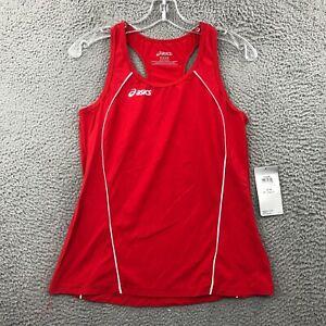 ASICS Tank Top Womens Medium M Round Neck Sleeveless Pullover Activewear Red NWT