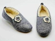 Warme Damen Hausschuhe-Pantoffeln aus Filz / Schafwolle Gr.36/37/38/39/40/41/42