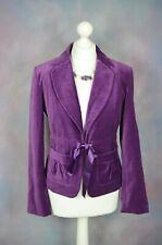 NESS Vibrant purple velvet/velour blazer jacket with ribbon tie 10