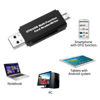 Micro USB OTG to USB 2.0 Adapter SD Micro SD Card Reader with standard USB Male