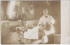 1910s Rp Postcard Youngwood Pa Barbershop Interior