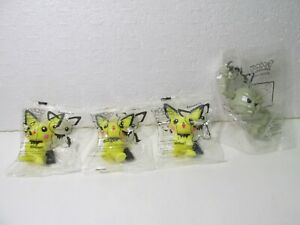 Kellogg's Set Of 4 Pokemon Geodude & Pichu Bowl Pals Cereal Toy 2001 t5050