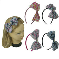 4 PCS  Assorted Polka Dot Ribbon Headband Hairband Multi Color