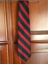 ECHO NWOT ITALIAN SILK  BLACK & MAROON STRIPED MENS TIE
