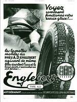 Publicité ancienne automobile pneu Englebert 1936 issue de magazine