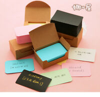 100pcs Blank Craft Paper Hang Tags Wedding Party Favor Label Price Gift Cards L