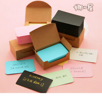 100pcs Kraft Paper Business Cards Word Card Message Memo Card DIY Gift Jian