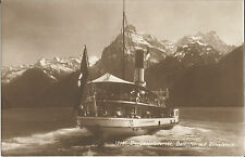Schiff-Dampfer auf dem Vierwaldstättersee am Urirotstock, Ansichtskarte von 1917