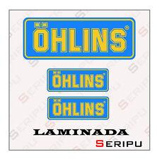 X3 PEGATINAS OHLINS LAMINADA STICKERS MOTO VINILO COCHE SCOOTER TUNING