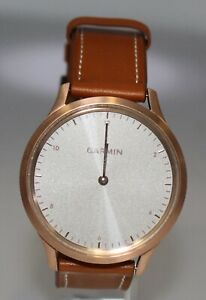 Garmin Vivomove HR Rose-gold with Tan Leather Band