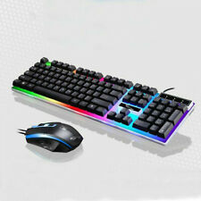Mechanical Feeling LED USB Wired Suspended Gaming Keyboard Ergonomic Mouse