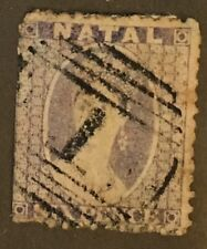 NATAL 1864 6d Scott 16 Used HNOG W25-52