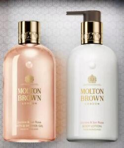 Molton Brown Jasmin & Sun Rose Body Bath & Shower Gel And Lotion Set 300ml