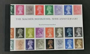 GB 2017 MACHINE 50TH ANNIVERSARY PRESTIGE BOOKLET IN SUPERB MNH CONDITION.