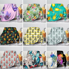 Blanket Sofa Bed Pineapple Coral Velvet Flannel Warm Plush Quilts Kids Fashion