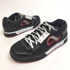 Rare Adio Black White Gum Sole Skate Shoes Sz 8 EU40.5 Athletic Lace EUC