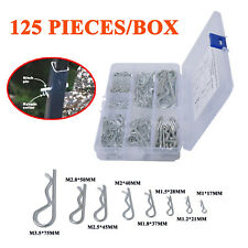 125Pcs/Box R-type Wave Card Hairpin Latch Bolt Cotter Pin Trim M1 to M3.5 Sizes