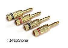 Norstone Banana Plugs set 4 connettori a serraggio 2 rossi + 2 neri dorati Gold