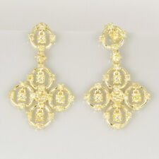 1Ct Natural Golden Yellow Diamond 10K Gold Earrings Color Enhanced EYG199Y-10