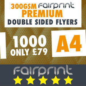 1000 A4 Flyers Leaflets Printed 300gsm Gloss