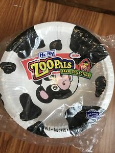 NEW Sealed Zoo Pals Hefty 20 Bowls Pig Duck Cow Ladybug Farm Kids Party Disposab
