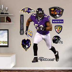 "RAY LEWIS 3'11"" x 6'4"" Ravens Legend Jersey REAL BIG Lifesize FATHEAD + Extras"