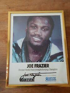 Smokin' Joe Frazier Boxing Signed 8x10 Photo Autographed SIGNATURE COMPUTER ASS