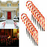 8PCS Christmas Winter Wonder Lane Light-Up Candy Cane Waterproof Garden Markers