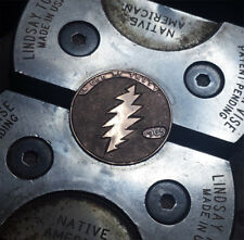 Hobo Nickel 1965 Lincoln cent penny Grateful Dead 13 point bolt