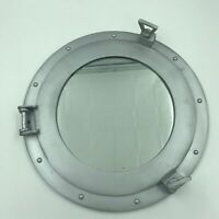 "Ship's Cabin Porthole Mirror 17"" Aluminum Silver Finish Round Nautical Decor New"