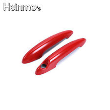 2 x Red Pattern Door Handle Cover For BMW MINI Cooper S R50 R53 R56 R57 R58 R59