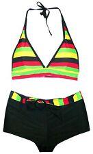 New Marina West Women's Swimsuit Set S M L XL 4 6 8 10 12 Halter Boyshorts 2 pc