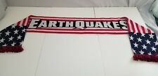 New listing San Jose Earthquakes Patriotic Scarf Red White Blue Ruffneck Scarves Soccer MLS