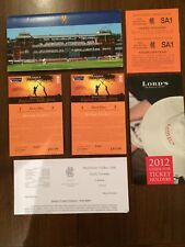 2 FIRST DAY ROVER TICKETS & PACKAGE ENGLAND V SOUTH AFRICA LORDS AUG 16TH 2012