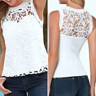Sexy Women Summer Lace Vest Tops Sleeveless Casual Tank Top Blouse T-shirt New